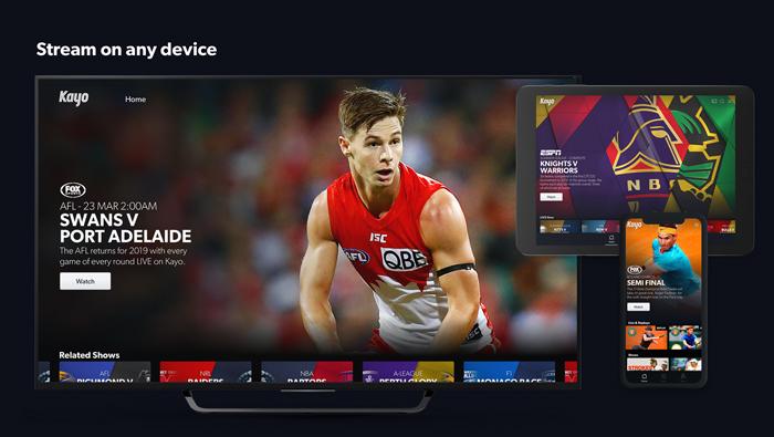 stream Kayo sports to NZ